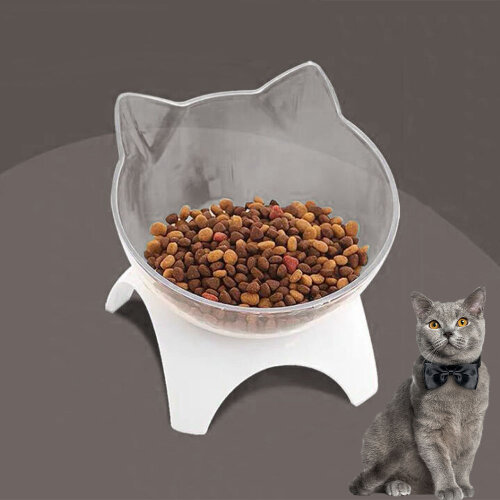 Pet Bowl Dog Cat Bowl Water Food Feeding Bowls Removable Protect Neck