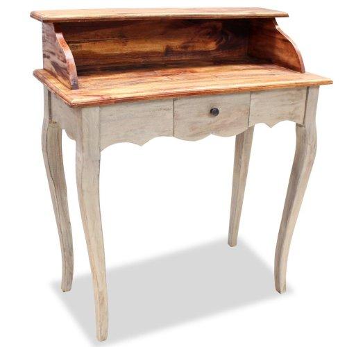 vidaXL Solid Wood Writing Desk Reclaimed 80x40x92 cm Handmade Home Study Table