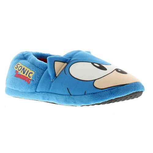 Boys A-Line Slip On Slipper Sonic Character To The Vamp Sonic Logo To The Side W