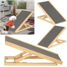 Freestanding Adjustable Heights Pet Non-Slip Puppy Dog Stair Ramp
