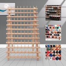 120 Spool Tailor Holder Storage Bobbin Sew Wood Thread Rack Sewing Organizer UK