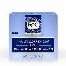 RoC Multi Correxion 5 in 1 Restoring Anti-Aging Facial Night Cream with Hexinol, 1.7 Ounces