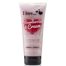 I Love... Strawberries & Cream Exfoliating Shower Smoothie 200ml