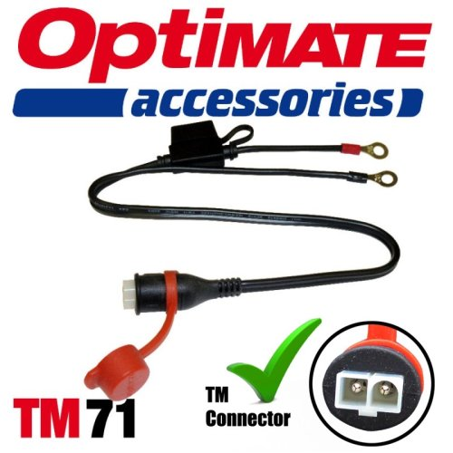 Optimate TM71 Fused Weatherproof Permanent Lead Connector Motorcycle