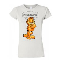 Garfield The Cat T Shirt Cartoon Tee Funny Inspired T Shirt Trendy Women T Shirt