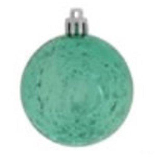 Vickerman M166742 Teal Shiny Mercury Ball Ornament - 10 in.