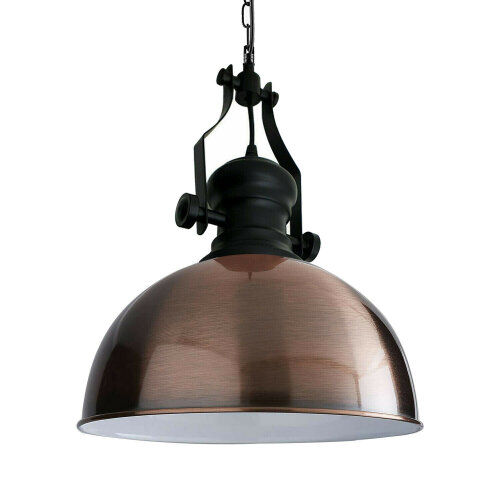 (Copper Colour Without Bulb) Vintage ceiling Pendant lampshade loft Retro chain