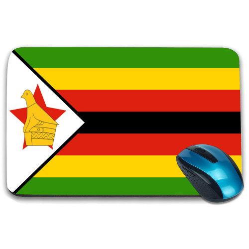 i-Tronixs - Zimbabwe Flag Printed Design Non-Slip Rectangular Mouse Mat for Office / Home / Gaming - 0197
