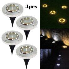 Warm 4pc LED Solar Decking Lights