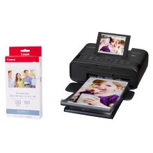 Canon SELPHY CP1300 Black Photo Printer inc RP-36I Ink Paper Set for 36x Photos