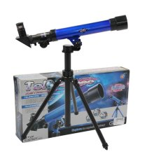 Plastic Astronomical Telescope Tripod Stargazing Educational Kids Toy