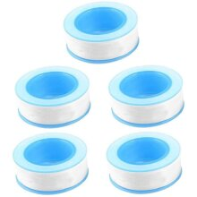 Teflon Tape, Thread Seal Tapesï¼PTFE Thread Seal Tape for Plumbers Sealant Tape for Leak Water Pipe Thread 1/2 inch x 500 inch (5 Pack/Whit