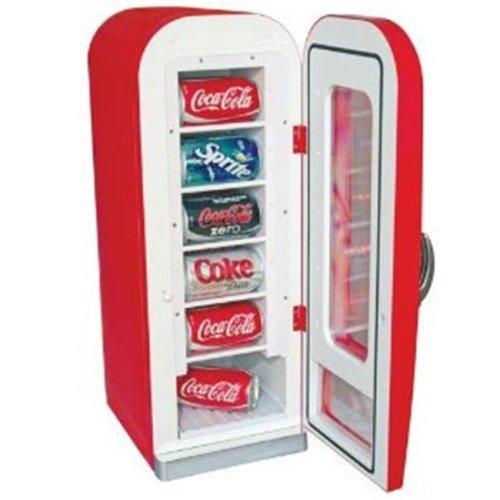 Retro Coca-Cola 10-Can-Capacity Vending Fridge