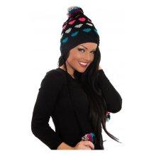 Dakota Pom Pom Hat In Black