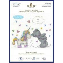 DMC Me to you Tatty Teddy  Counted Cross Stitch Kit - Unicorn Kisses