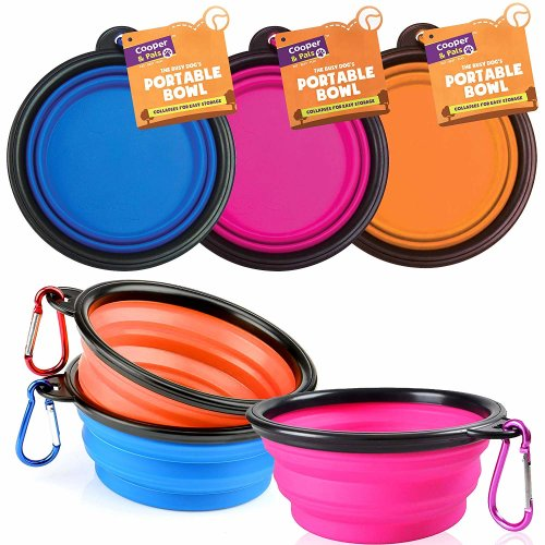 Cooper & Pals Collapsible Dog Bowl Folding Pet Feeder Food Water