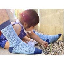 Stylish Blue Rectangle Diamond Sock