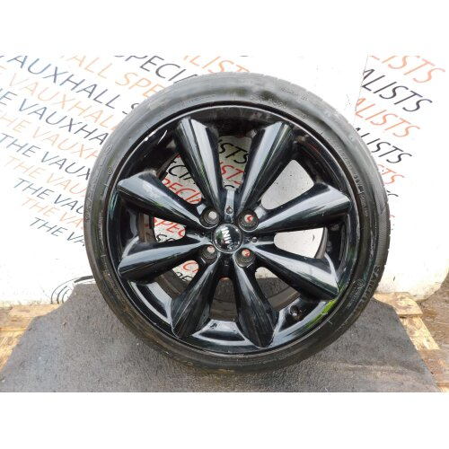 MINI COOPER R56 06-13 SINGLE ALLOY WHEEL CONICAL + TYRE 205-45-17 6791931 - Used