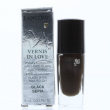 NEW Lancome Vernis in Love Gloss Shine Nail Polish 385N Black Sepia