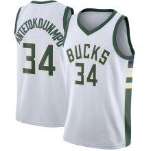 Milwaukee Bucks Giannis Antetokounmpo Loose Basketball Jersey Sports Shirts Men's Quick-drying Basketball Uniform Tops