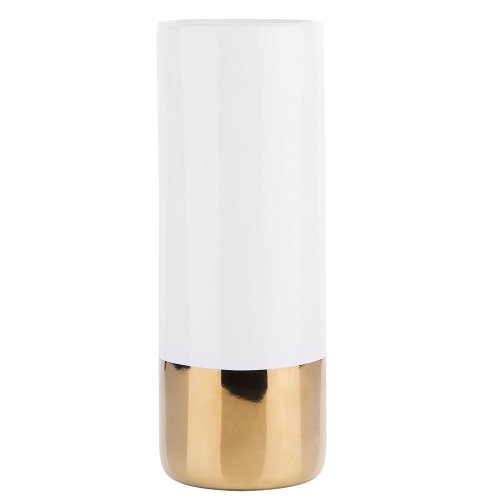 Flower Vase White with Gold GELIDA