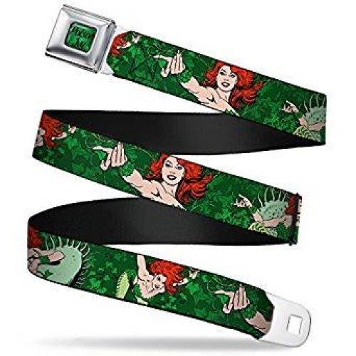 Seatbelt Belt - DC Comics - Poison Ivy V.3 Adj 24-38' Mesh New dci-wdc0015