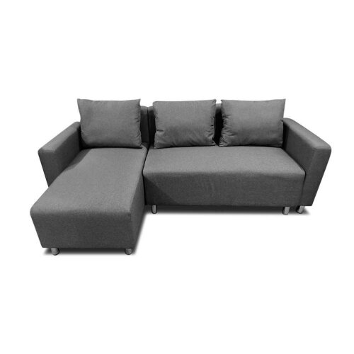 (Drak Gray Right) Corner Sofa Bed with Underneath Storage