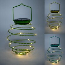 Solar Powered LED Beehive Spiral Lantern String Wire Lights Outdoor