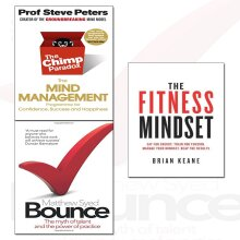 bounce,fitness mindset and chimp paradox 3 books collection set