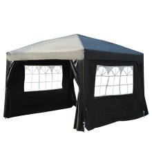 Outsunny 3m x 3m Pop Up Gazebo Party Tent Canopy Marquee with Storage Bag Black