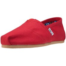 Toms Classic Womens Slip On Shoes in Red - 5.5 UK