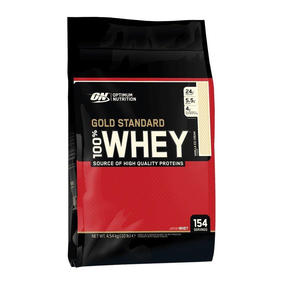 Optimum Nutrition Gold Standard 100% Whey, Vanilla Ice Cream, 4540g