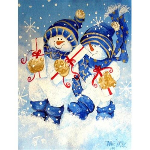 Holiday Delivery Snowman Flag Garden Size
