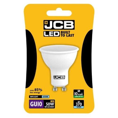 JCB LED GU10 5w Bulb Blister Packed 370lm 6500k Daylight [S10966]