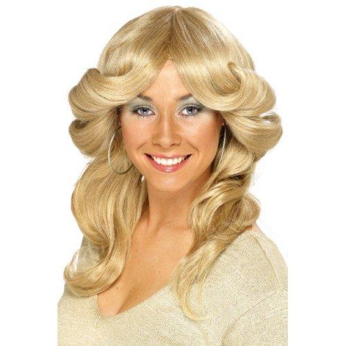 Smiffy's 70's Flick Wig -  wig flick 70s fancy dress smiffys blonde ladies 1970s costume