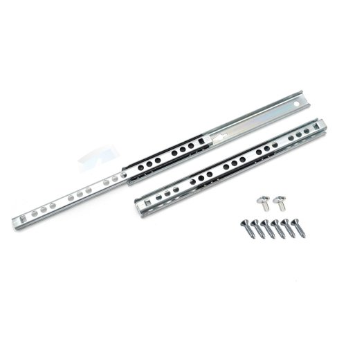 Ball bearing drawer runners groove slides, H-17mm L-342mm (1 Pair)