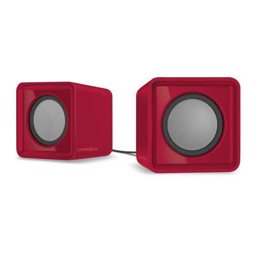 SPEEDLINK Twoxo USB-powered Compact Cube Stereo Speakers Red