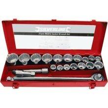 "Silverline Socket Set 3/4"" Drive Metric 21pce 21pce - 34 633663 -  21pce set socket 34 drive metric silverline 633663"