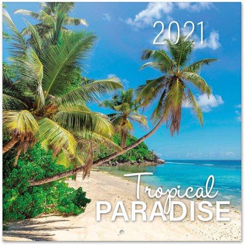 Tropical Paradise 2021 Wall Calendar 11.8 x 11.8 inches (16 Months)