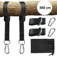 Swing Hammock Tree Hanging Kit Strap Hooks Carabiner Garden Swing Fittings W/Bag