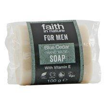 Faith in Nature Faith for Men Blue Cedar Soap 100g