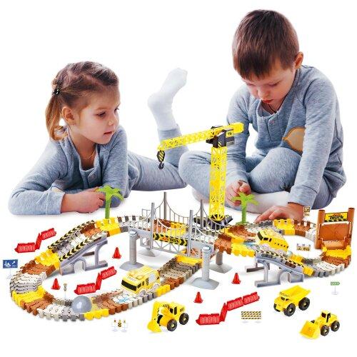 Create-A-Track Construction Track Set