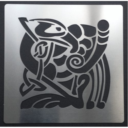 (C. Bird) Celtic Animal Knots Stainless Steel Crafting Stencil 7cm