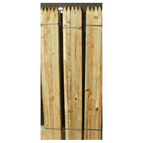(1.8m tall) 10 x Scandinavian 32mm square pointed treated wooden stakes