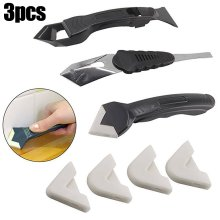 Silicone Scraper Set Caulking Grouting Sealant Finishing Cleaning Remover Tool Kit