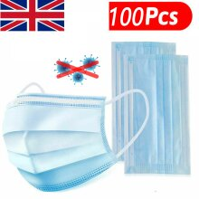 100pcs Medical Surgical Disposable mask 3 Ply Face Mask Mouth Cover