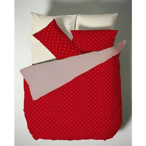 Catherine Lansfield Polka Dot, Single Duvet - Red