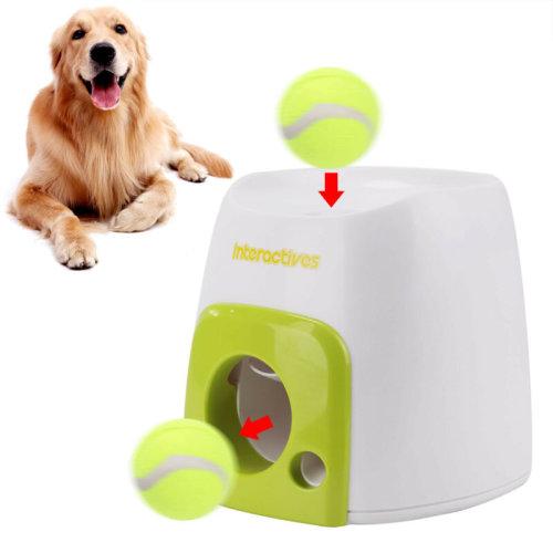 Interactive Dog Treat Tennis Ball Toy | Hyper Game Training