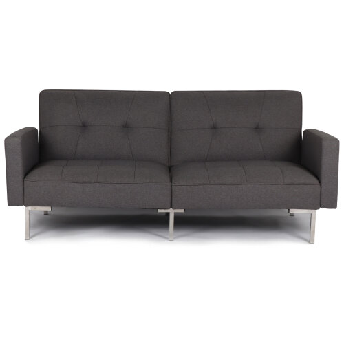 3 Seater Sofa Bed Luxury Fabric Recliner Click Clack Settee Sofa