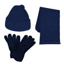Kids Fleece Set - Hat, Gloves And Scarf